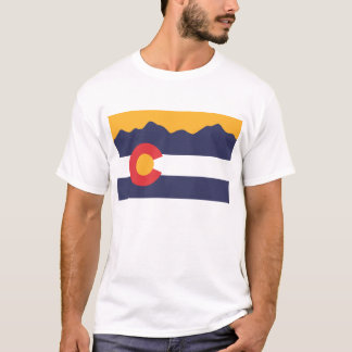 Colorado-Flagge und GebirgsT - Shirt