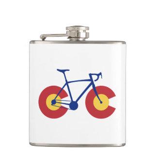 Colorado-Flaggen-Fahrrad Flachmann