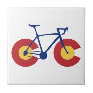 Colorado-Flaggen-Fahrrad Keramikfliese