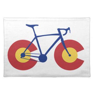 Colorado-Flaggen-Fahrrad Tischset