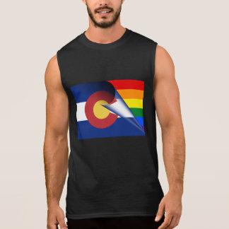 Colorado-Flaggen-Gay Pride-Regenbogen Ärmelloses Shirt