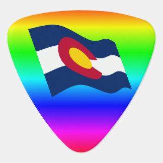 Colorado-Flaggen-Regenbogen Plektron