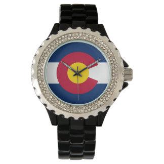 Colorado-Flaggen-Uhr Uhr