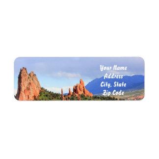 Colorado-Garten der Gott-Adressen-Etiketten