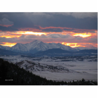 Colorado-Gebirgssonnenuntergang-Foto-Skulptur Freistehende Fotoskulptur