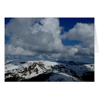 Colorado-Gebirgswolken - leere Anmerkungs-Karte Karte