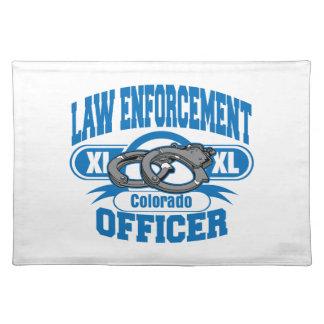 Colorado-Gesetzeshüter-Handschellen Stofftischset