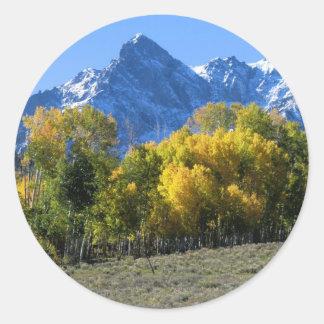 Colorado-Herbstfarben Runder Aufkleber