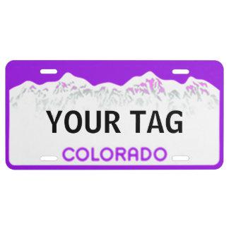 Colorado-Lizenz-Platte - lila Ausgabe US Nummernschild