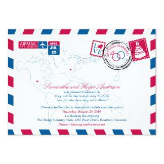 Colorado-Luftpost-Posten-Hochzeits-Empfang 12,7 X 17,8 Cm Einladungskarte