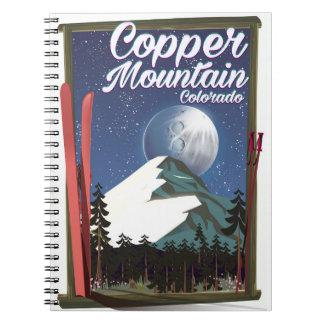 Colorado-Reiseplakat Kupfer-Berg Notizblock