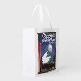 Colorado-Reiseplakat Kupfer-Berg Wiederverwendbare Einkaufstasche