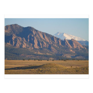 Colorado Rocky Mountains Flatirons mit Postkarte