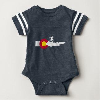 Colorado-Ski-Skifahren-Flagge Baby Strampler