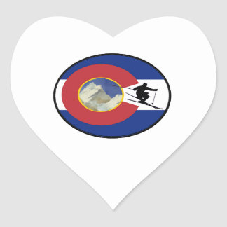 COLORADO-SKI-ZEIT Herz-Aufkleber