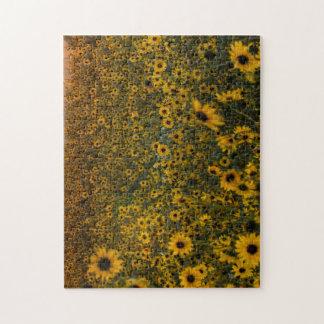 Colorado-Sonnenblumen an der Dämmerung Puzzle