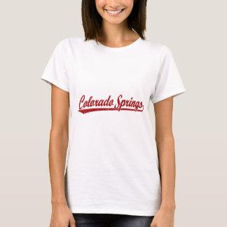 Colorado Springs-Skriptlogo im Rot T-Shirt