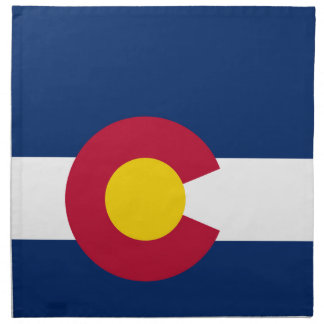 Colorado-Staats-Flagge Stoffserviette