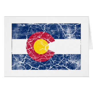 Colorado-Staats-Flagge Vintag Karte