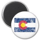 Colorado-Staats-Flagge Vintag Runder Magnet 5,7 Cm
