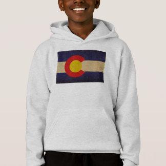 Colorado-Staats-Flagge VINTAGE.png Hoodie