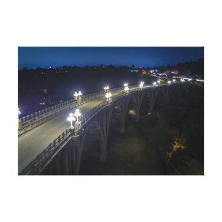 Colorado-Straßen-Brücke nachts Leinwanddruck