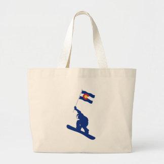 Coloradosnowboard-Flagge Jumbo Stoffbeutel