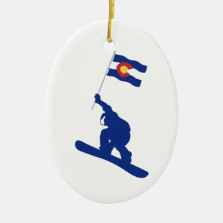 Coloradosnowboard-Flagge Keramik Ornament