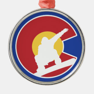 ColoradoSnowboard Silbernes Ornament