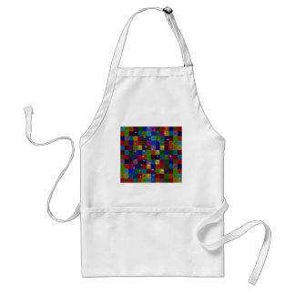 colorblock Spakle Glas abstrakt Schürze