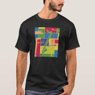 Colorblocks Dunkelheits-T - Shirt