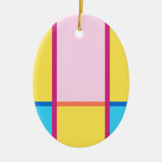 #ColorBlocks Sommer-Träumen Ovales Keramik Ornament
