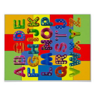 Colorboard Alphabet Poster