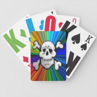 colorburst Piratenschädel-Kartensatz Poker Karten