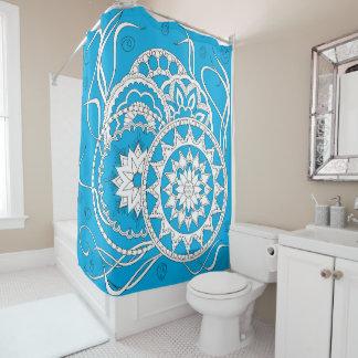 colorful an~ordnen blue Zen pattern with sie an Duschvorhang