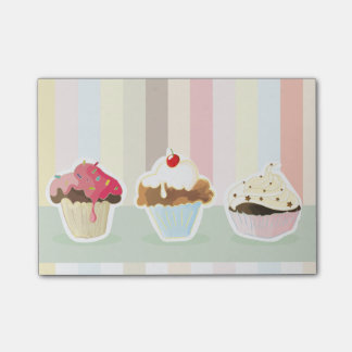 colorful cupcake post-it klebezettel