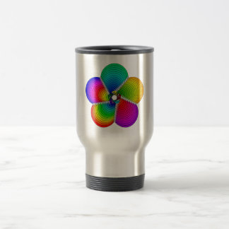 colorful geometric blossom reisebecher