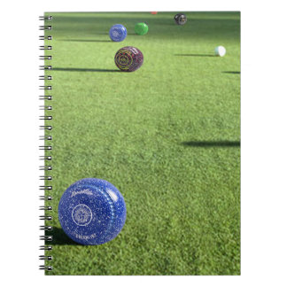 Colorful_Lawn_Bowls, _ Spiral Notizblock