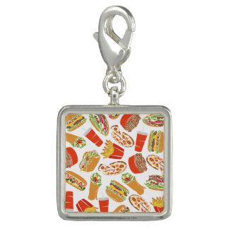 Colorful Pattern Illustration Fast Food Charm