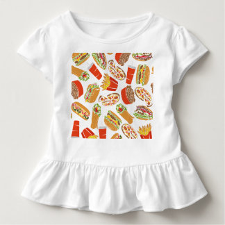 Colorful Pattern Illustration Fast Food Kleinkind T-shirt
