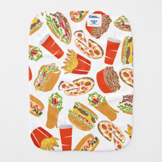 Colorful Pattern Illustration Fast Food Spucktuch