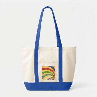 Colorful retro spiral einkaufstasche