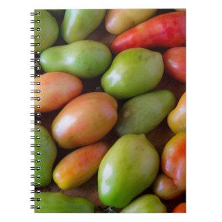 Colorful_Roma_Tomatoes Spiral Notizblock