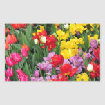 Colorful spring flower garden stickers