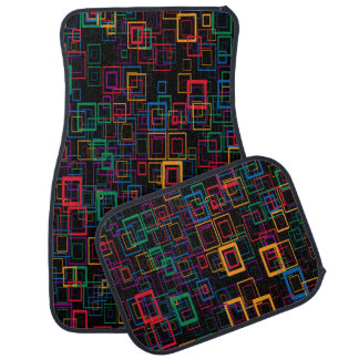 Colorful squares auto fussmatte