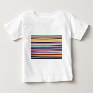 colorful stripes of summer baby t-shirt