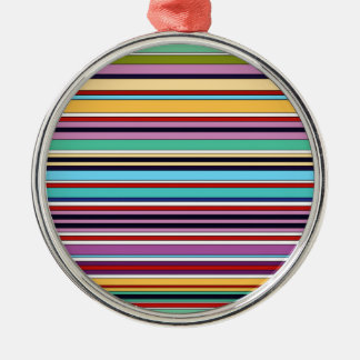 colorful stripes of summer silbernes ornament