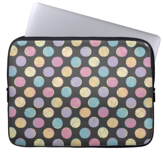 Colorful urban confetti dots modern black schick laptop schutzhüllen