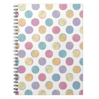 Colorful urban confetti polka dots modern schick spiralblöcke