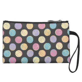 Colorful urban polka dots black schick clutch rück